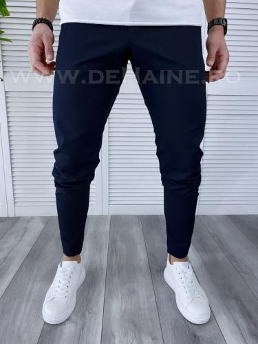 Pantaloni barbati bleumarin casual B3820 M - Pantaloni barbati -  Pantaloni casual