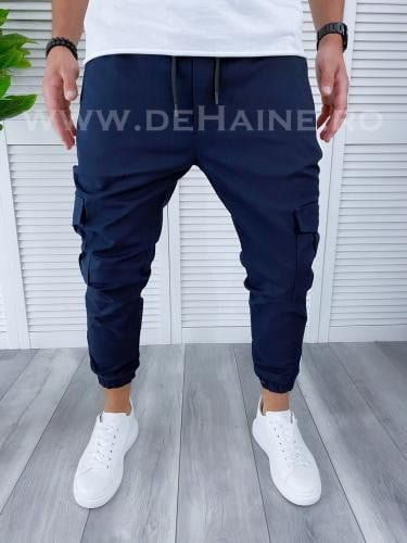 Pantaloni barbati bleumarin casual B3918 D3-5 - Pantaloni barbati -  Pantaloni casual