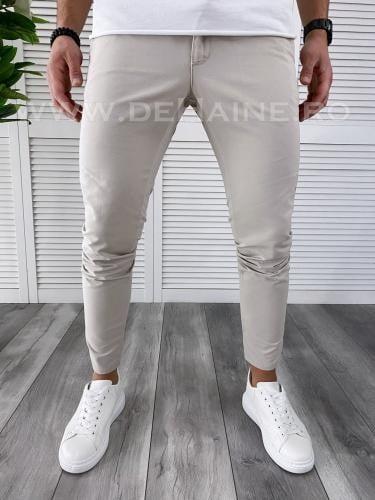 Pantaloni barbati gri deschis casual B3794 B6-3 - Pantaloni barbati -  Pantaloni casual
