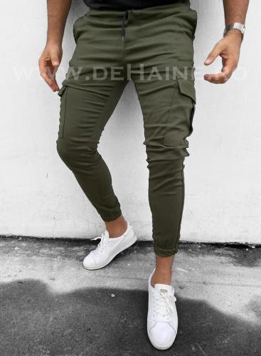 Pantaloni barbati kaki casual B3629 23-3 - Pantaloni barbati -  Pantaloni casual