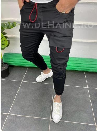 Pantaloni barbati negri casual B3627 23-2 - Pantaloni barbati -  Pantaloni casual
