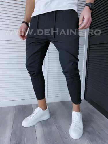 Pantaloni barbati negri casual B3739 O2-22 - Pantaloni barbati -  Pantaloni casual