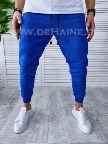 Pantaloni de trening conici albastri B3407 O2 3-1 - Pantaloni barbati -