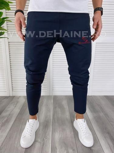 Pantaloni de trening conici bleumarin B3789 D4-5 - Pantaloni barbati -