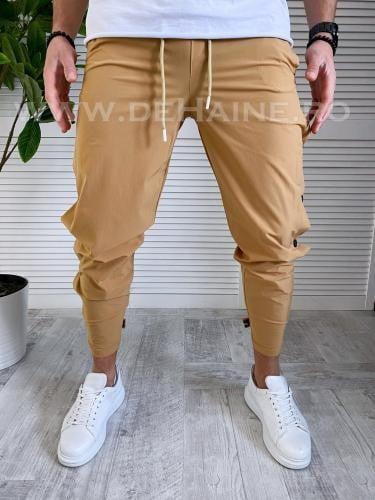 Pantaloni de trening conici camel B3371 D7-5 - Pantaloni barbati -