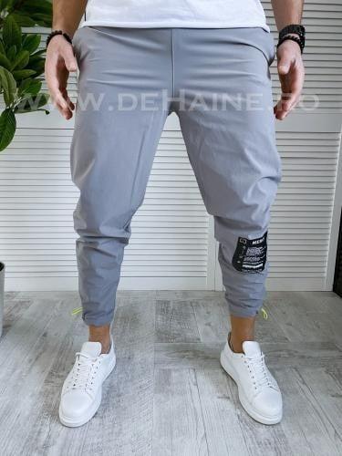 Pantaloni de trening conici gri B3366 88-1 - Pantaloni barbati -