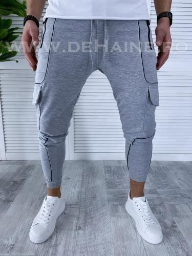 Pantaloni de trening conici gri deschis B3572 114-5 - Pantaloni barbati -