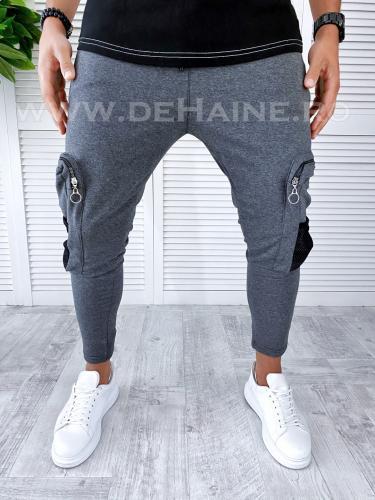 Pantaloni de trening conici gri inchis B2976 O3-13 - Pantaloni barbati -