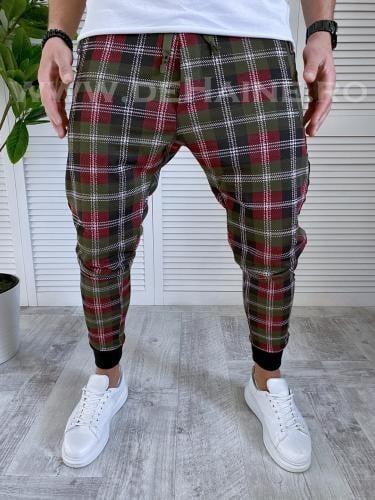 Pantaloni de trening conici kaki 19066 14-2 - Pantaloni barbati -