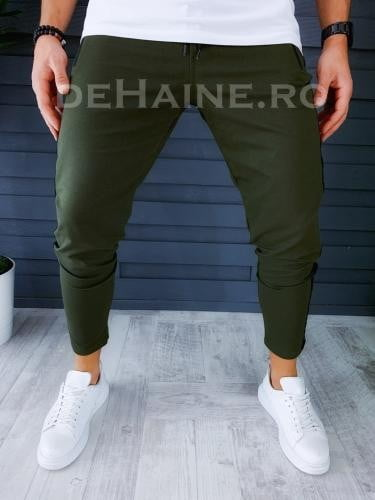 Pantaloni de trening conici kaki A6163 O3-5 - Pantaloni barbati -