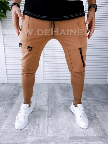Pantaloni de trening conici maro B2977 O3-41 - Pantaloni barbati -