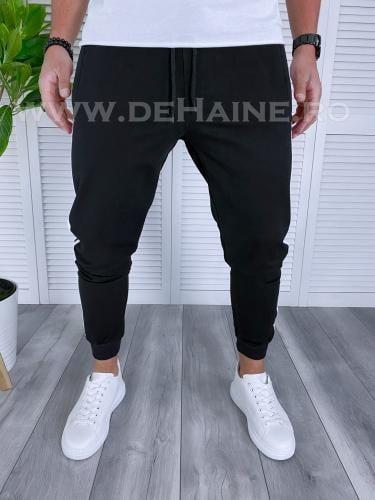 Pantaloni de trening conici negri B3057 111-1 - Pantaloni barbati -