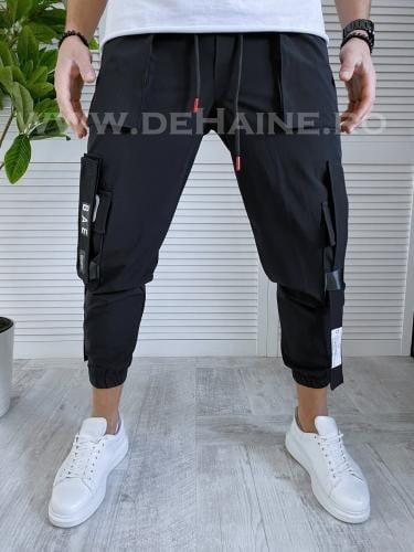 Pantaloni de trening conici negri B3365 O14-2 - Pantaloni barbati -