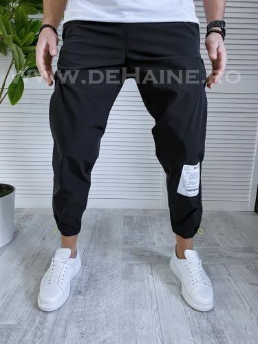 Pantaloni de trening conici negri B3366 O3-22 - Pantaloni barbati -