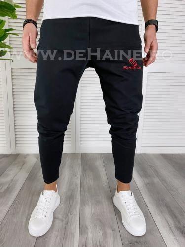 Pantaloni de trening conici negri B3790 O3-42 - Pantaloni barbati -