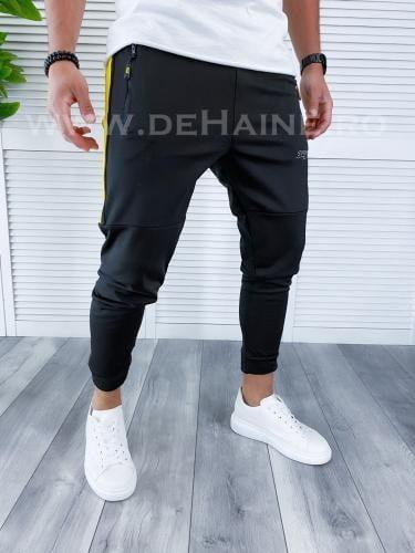 Pantaloni de trening conici negri B3944 O2-61 - Pantaloni barbati -
