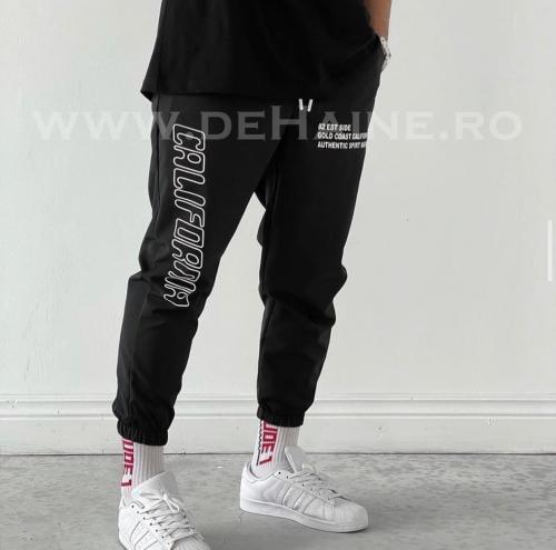 Pantaloni de trening conici negri B3980 - Pantaloni barbati -