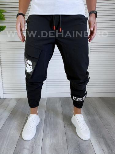 Pantaloni de trening conici negri B3997 16-3 - Pantaloni barbati -