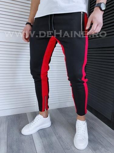 Pantaloni de trening negri conici 2971 11-5 - Pantaloni barbati -