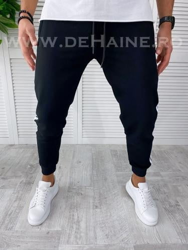 Pantaloni de trening negri conici B3057 111-1 2 3* - Pantaloni barbati -