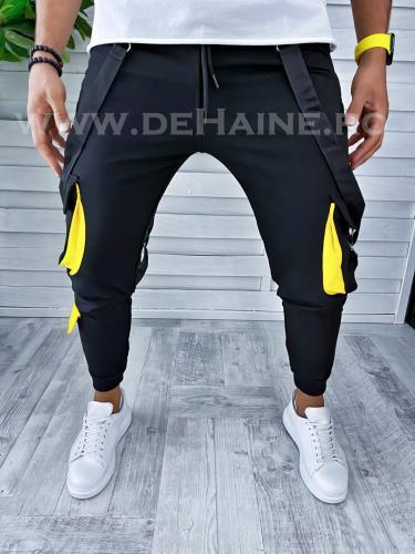 Pantaloni de trening negri conici VAGABOND B2392 O3-22 - Pantaloni barbati -