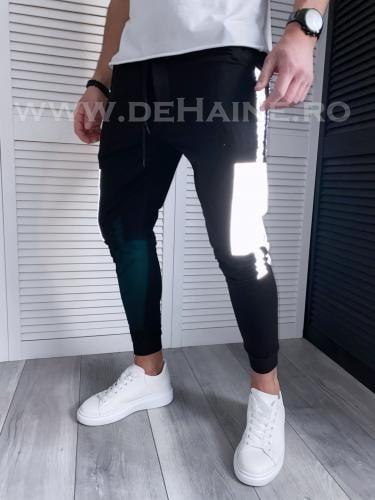 Pantaloni de trening reflectorizanti negri conici B3732 21-5 - Pantaloni barbati -