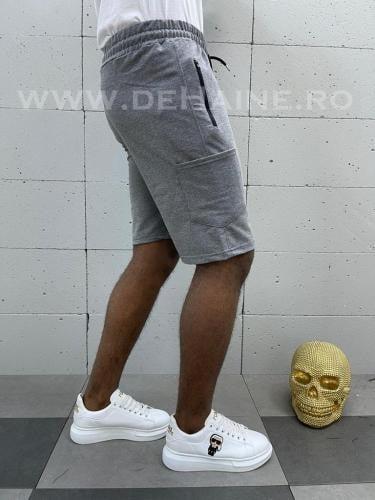 Pantaloni scurti de trening gri inchis B3934 114-4 - Pantaloni barbati - Pantaloni scurti