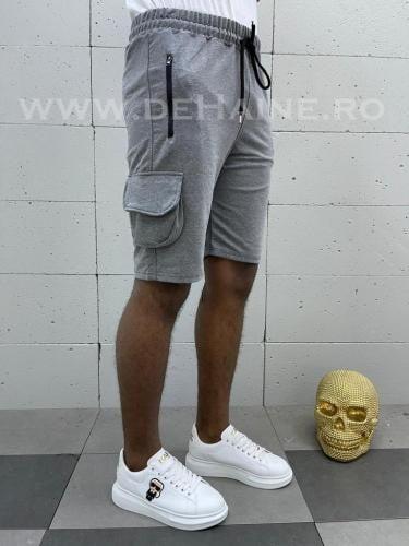 Pantaloni scurti de trening gri inchis B3935 113-2 - Pantaloni barbati - Pantaloni scurti