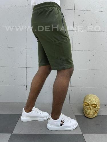 Pantaloni scurti de trening kaki B3934 114-3 - Pantaloni barbati - Pantaloni scurti