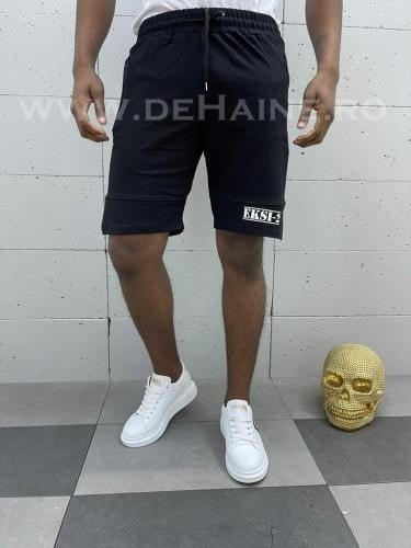 Pantaloni scurti de trening negri B3929 18-5 - Pantaloni barbati - Pantaloni scurti