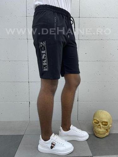Pantaloni scurti de trening negri B3930 85-2 - Pantaloni barbati - Pantaloni scurti