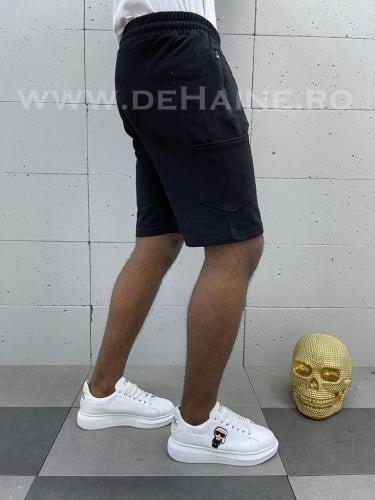 Pantaloni scurti de trening negri B3934 92-1 - Pantaloni barbati - Pantaloni scurti
