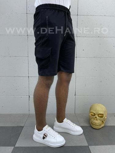 Pantaloni scurti de trening negri B3935 4-4 - Pantaloni barbati - Pantaloni scurti