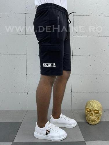 Pantaloni scurti de trening negri B3936 10-5 - Pantaloni barbati - Pantaloni scurti
