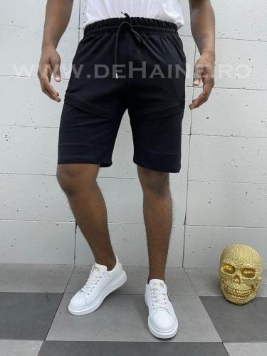 Pantaloni scurti de trening negri B3938 83-4 - Pantaloni barbati - Pantaloni scurti