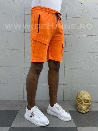 Pantaloni scurti de trening portocalii B3937 3-2 - Pantaloni barbati - Pantaloni scurti