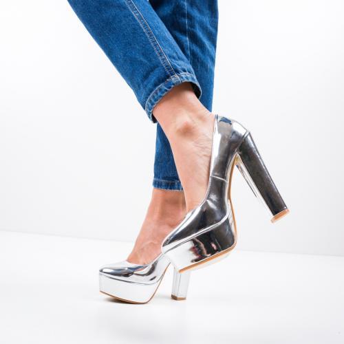 Pantofi Alexis Argintii - Pantofi eleganti -