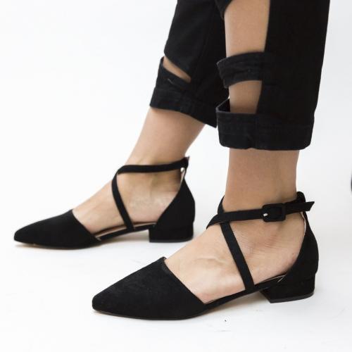 Pantofi Amisha Negri - Pantofi eleganti - Pantofi cu toc mic