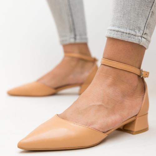 Pantofi Barrera Bej - Pantofi eleganti - Pantofi cu toc gros