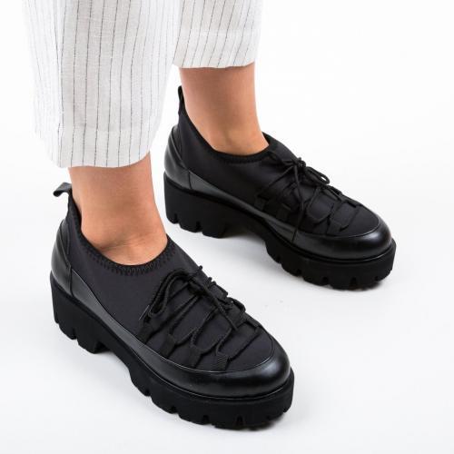 Pantofi Casual Asher Negri 2 - Incaltaminte casual femei - Casual