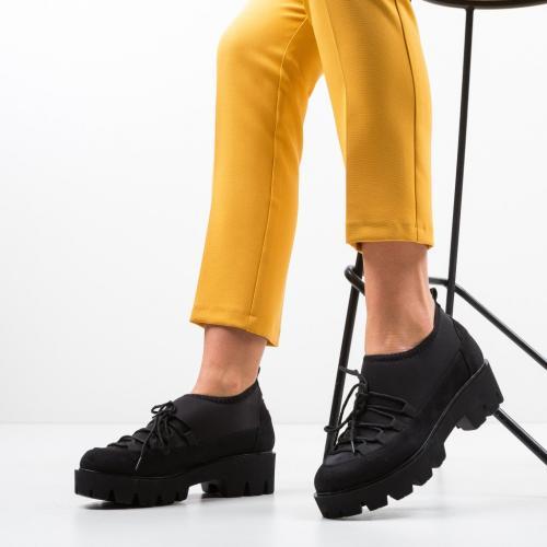 Pantofi Casual Asher Negri - Incaltaminte casual femei - Casual