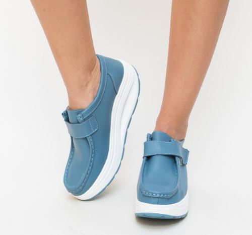 Pantofi Casual Bimbi Albastri - Incaltaminte casual femei - Pantofi casual