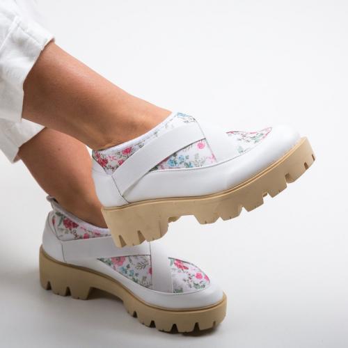 Pantofi Casual Eleri Albi - Incaltaminte casual femei - Casual
