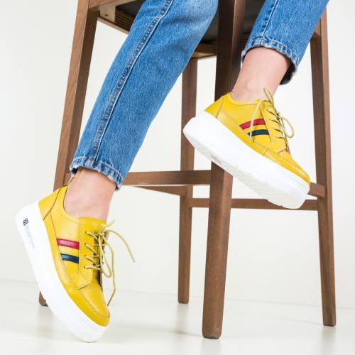 Pantofi Casual Ever Galbeni - Incaltaminte casual femei - Pantofi casual