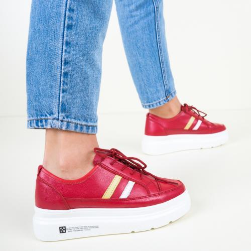 Pantofi Casual Ever Rosii - Incaltaminte casual femei - Pantofi casual
