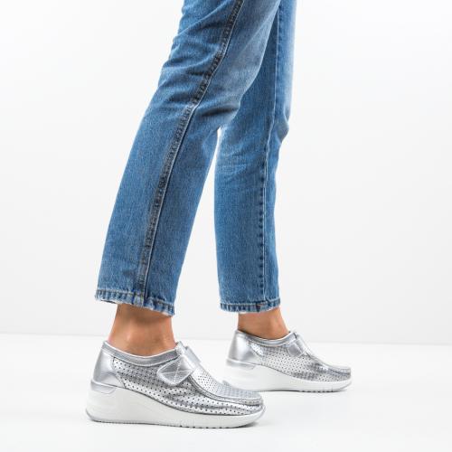 Pantofi Casual Farza Argintii - Incaltaminte casual femei - Casual