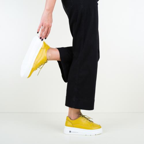 Pantofi Casual Figuer Galbeni - Incaltaminte casual femei - Pantofi casual