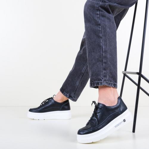 Pantofi Casual Figuer Negri - Incaltaminte casual femei - Pantofi casual