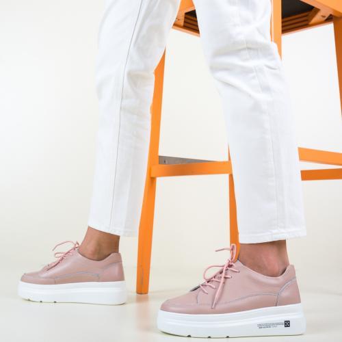 Pantofi Casual Figuer Roz - Incaltaminte casual femei - Pantofi casual