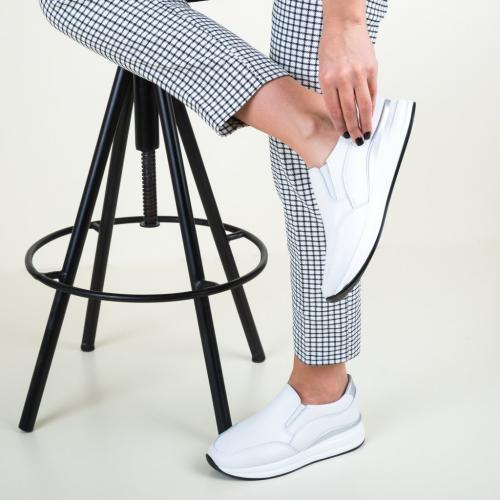 Pantofi Casual Gemma Albi - Incaltaminte casual femei - Pantofi casual